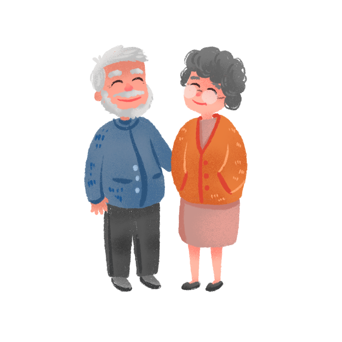—Pngtree—hand drawn cute elderly couple_3723435